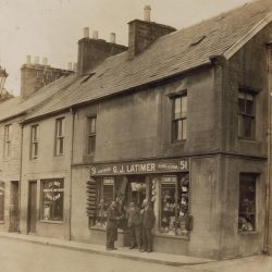 Latimers old shop front Langholm