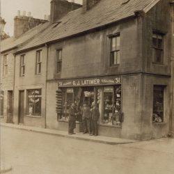 Old shop front Latimers of Langholm